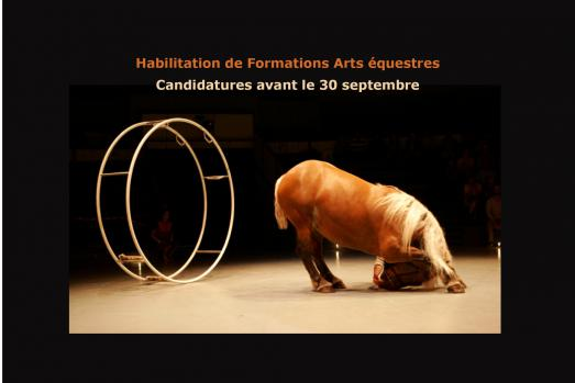 Habilitation Formations Arts équestres - Appel à candidatures